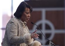 Dr. Bernice King, daughter of slain civil rights leader Martin Luther King, Jr., and CEO of the King Center speaks during the Martin Luther King, Jr. 46th Annual Commemorative Service in Atlanta, Georgia, January 20, 2014. REUTERS/Tami Chappell