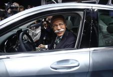 Chairman of Daimler AG and Head of Mercedes-Benz cars Dieter Zetsche sits in C220 Bluetec during the press preview day of the North American International Auto Show in Detroit, Michigan January 13, 2014. REUTERS/Joshua Lott
