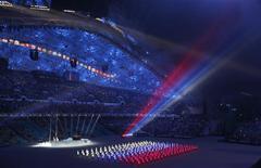Церемония открытия Игр в Сочи 7 февраля 2014 года. REUTERS/Mark Blinch