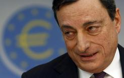 European Central Bank (ECB) President Mario Draghi speaks during the monthly ECB news conference in Frankfurt February 6, 2014. REUTERS/Ralph Orlowski