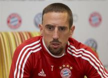 Bayern Munich's Franck Ribery attends a news conference in Doha January 11, 2014. REUTERS/Fadi Al-Assaad