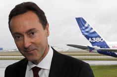 Fabrice Brégier, président exécutif d'Airbus. Au Salon aéronautique de Singapour, le groupe Airbus a affiché ses ambitions pour l'Asie-Pacifique, région où il a été l'avionneur dominant en 2013 et qui devrait rester un important moteur de croissance pendant les 20 prochaines années./Photo prise le 13 janvier 2014/REUTERS/Régis Duvignau