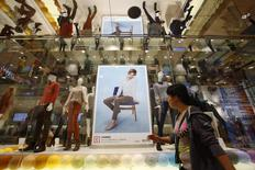 Mannequins wearing cashmere clothes are displayed at Fast Retailing's Uniqlo casual clothing store in Tokyo October 4, 2013. REUTERS/Issei Kato
