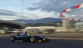 A Russian Time GP2 car drives at the newly opened Sochi International Street Circuit in Sochi, September 27, 2013. REUTERS/Maxim Shemetov