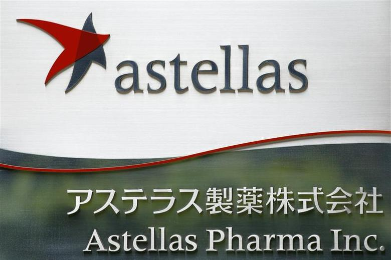 The logo of Japanese pharmaceutical company Astellas Pharma Inc. is seen at the company's headquarters in Tokyo July 17, 2009. REUTERS/Stringer