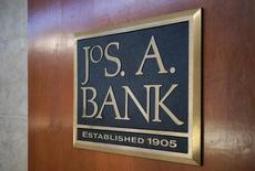 A sign outside the Jos. A.Bank store is seen in Broomfield, Colorado February 14, 2014. REUTERS/Rick Wilking