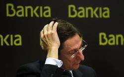 Le président de Bankia, José Ignacio Goirigolzarri, confie que le processus de privatisation de l'établissement bancaire espagnol débutera probablement par la cession d'une tranche de 5 à 10% à l'intention d'investisseurs institutionnels. La privatisation se fera par étapes sur plusieurs années. /Photo prise le 3 février 2014/REUTERS/Andrea Comas