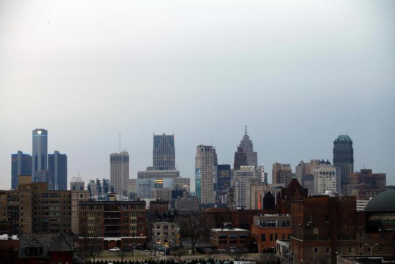 The Detroit skyline is seen from the north side of the city in Detroit, Michigan, December 3, 2013. REUTERS/Joshua Lott