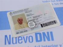 Pope Francis' new national identification card is seen in this undated handout photo taken by Argentina's Interior Ministry and distributed on February 17, 2014.REUTERS/Interior Ministry/Handout via Reuters