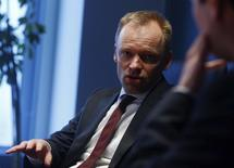 Clemens Fuest, Co-Director of the Centre for European Economic Research (ZEW) speaks during an interview with Reuters in Frankfurt February 10, 2014. REUTERS/Ralph Orlowski