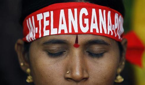 The Telangana movement