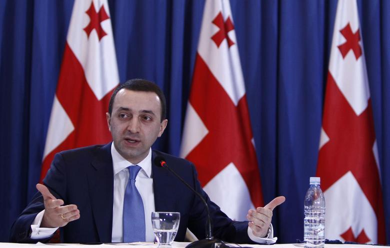Georgia's Prime Minister Irakly Garibashvili speaks during a news conference in Tbilisi, January 16, 2014 file photo. REUTERS/David Mdzinarishvili