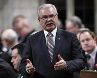 Canada's Agriculture Minister Gerry Ritz speaks during Question Period in the House of Commons on Parliament Hill in Ottawa November 29, 2012 file photo. REUTERS/Chris Wattie