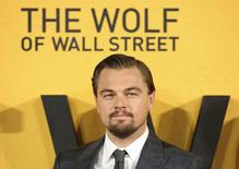 """Cast member Leonardo DiCaprio arrives for the U.K. premiere of """"The Wolf of Wall Street"""" at Leicester Square, London January 9, 2014 file photo. REUTERS/Paul Hackett"""