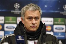 Chelsea's manager Jose Mourinho attends a news conference a day before their Champions League soccer match against Galatasaray in Istanbul February 25, 2014. REUTERS/Osman Orsal
