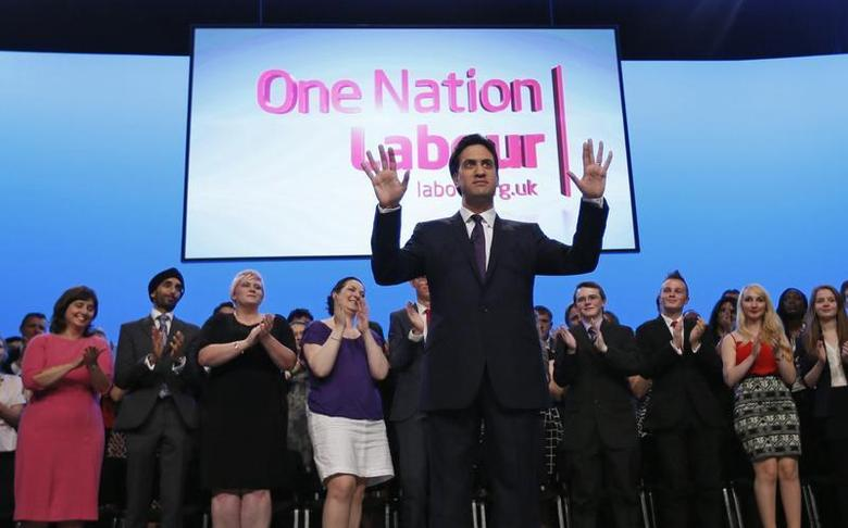 Britain's opposition Labour party leader Ed Miliband delivers his speech at the annual Labour party conference in Brighton, southern England September 24, 2013. REUTERS/Stefan Wermuth