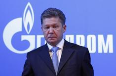 Глава Газпрома Алексей Миллер на годовом общем собрании акционеров в Москве 29 июня 2012 года. Газпром предоставил греческой газовой компании DEPA ретроактивную 15-процентную скидку на топливо, действующую с июля 2013 года, сообщило министерство энергетики Греции. REUTERS/Maxim Shemetov