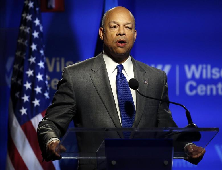 Department of Homeland Security Secretary Jeh Johnson delivers a speech in Washington February 7, 2014. REUTERS/Gary Cameron (UN