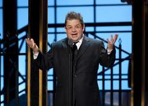 Comedian Patton Oswalt speaks during the second annual 2012 Comedy Awards in New York City April 28, 2012. REUTERS/Stephen Chernin