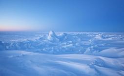 Вид на ледяной покров Северного Ледовитого океана к северу от залива Прудо-Бей на Аляске 18 марта 2011 года. Военно-морские силы США планируют расширить присутствие в Арктике начиная примерно с 2020 года, учитывая, что некогда постоянный ледяной покров океана тает быстрее, чем ожидалось, что, вероятно, повлечет за собой увеличение судоходства, рыбной ловли и ресурсодобывающих работ. REUTERS/Lucas Jackson