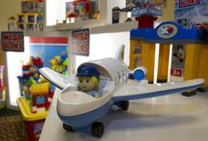 Displayed Mega Bloc toys at Mega Brands Inc. annual general meeting in Montreal May 12, 2011. REUTERS/Christinne Muschi
