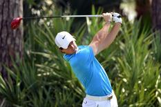 Mar 2, 2014; Palm Beach Gardens, FL, USA; Rory McIlroy on the 2nd tee during the final round of The Honda Classic golf tournament at PGA National GC Champion Course. Bob Donnan-USA TODAY Sports