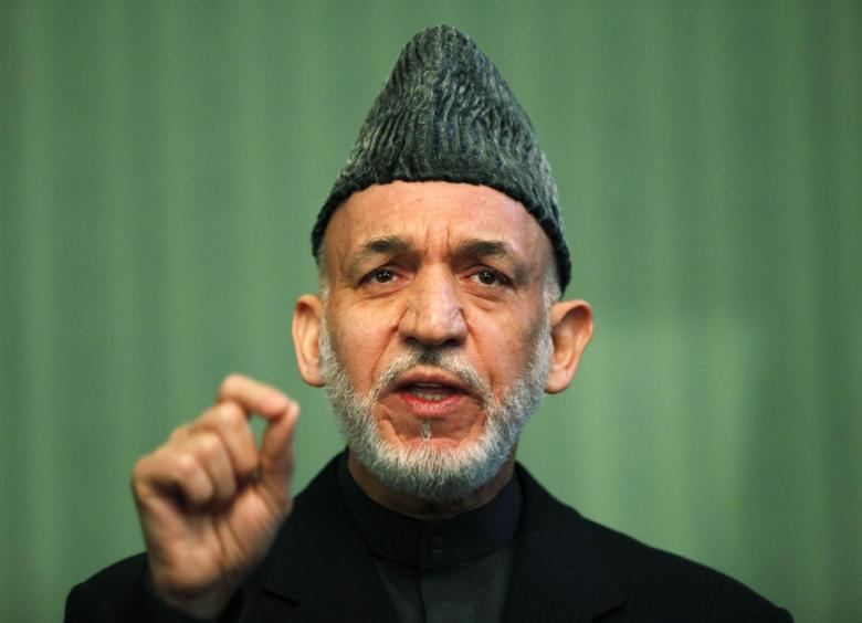 Afghan President Hamid Karzai speaks during a news conference in Kabul January 25, 2014 FILE PHOTO. REUTERS/Mohammad Ismail