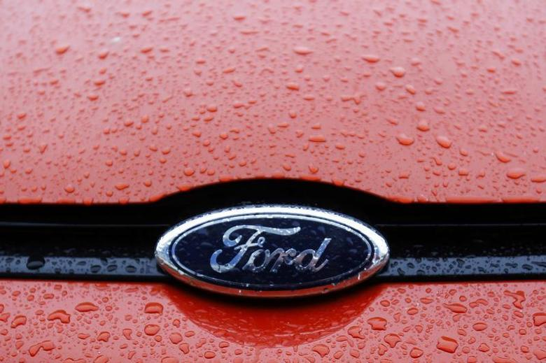 The Ford logo is seen on a vehicle at Ford car plant in Craiova, 230km (143 miles) west of Bucharest, October 29, 2012. REUTERS/Bogdan Cristel/Files