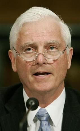 Bill Klesse, CEO of Valero Energy Corp., testifies at a U.S. Senate Judiciary Committee on the ''Consolidation in the Oil and Gas Industry: Raising Prices?'' at Capitol Hill in Washington March 14, 2006.