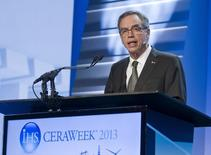 Canada's Minister of Natural Resources Joe Oliver speaks during the IHS CERAWeek energy conference in Houston March 6, 2013. REUTERS/Richard Carson
