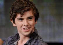 "British cast member Freddie Highmore takes part in a panel discussion of A&E's ""Bates Motel"" during the 2013 Winter Press Tour for the Television Critics Association in Pasadena, California January 4, 2013. REUTERS/Gus Ruelas"
