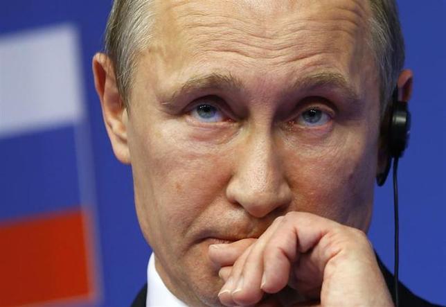 3月4日、欧州諸国はウクライナ危機を受け、ロシアへの依存度が高い天然ガスの調達先多様化をあらためて迫られている。写真はロシアのプーチン大統領。2月撮影(2014年 ロイター/Yves Herman)