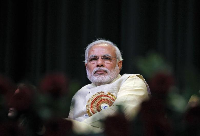 Narendra Modi, prime ministerial candidate for the Bharatiya Janata Party (BJP) and Gujarat's chief minister, attends the Confederation of All India Traders (CAIT) national convention in New Delhi February 27, 2014. REUTERS/Stringer/Files