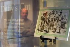 An exhibit at the museum of Duffy's Cut at Immaculata College in Malvern, Pennsylvania on March 8, 2014. REUTERS/Mark Makela