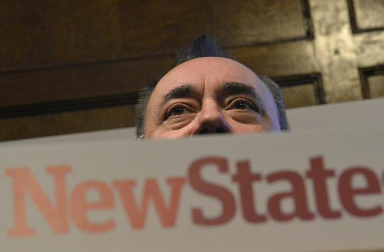 First Minister of Scotland and leader of the Scottish National Party, Alex Salmond delivers a keynote speech in central London March 4, 2014. REUTERS/Toby Melville