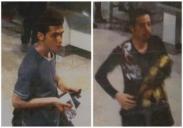 A combination photo shows two men whom police said were travelling on stolen passports onboard the missing Malaysia Airlines MH370 plane, taken before their departure at Kuala Lumpur International Airport in this March 11, 2014 handout courtesy of the Malaysian Police. REUTERS/Malaysian Police/Handout via Reuters