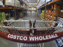 A Costco shopping cart is shown at a Costco Wholesale store in Carlsbad, California September 11, 2013. REUTERS/Mike Blake