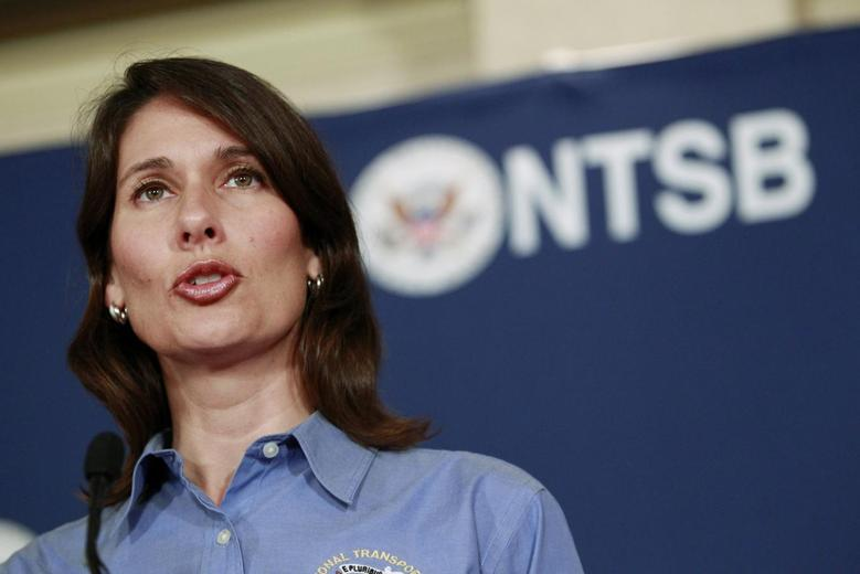 National Transportation Safety Board (NTSB) Chairwoman Deborah Hersman speaks during a news conference in south San Francisco, California, July 8, 2013. REUTERS/Beck Diefenbach