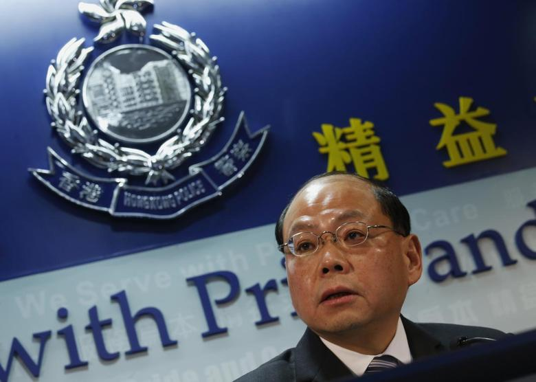 Hong Kong's Commissioner of Police Andy Tsang speaks during a news conference in Hong Kong March 12, 2014. REUTERS/Bobby Yip