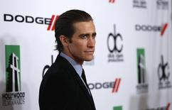 Actor Jake Gyllenhaal poses at the 17th Annual Hollywood Film Awards Gala at the Beverly Hilton Hotel in Beverly Hills, California October 21, 2013. REUTERS/Mario Anzuoni