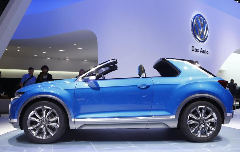 Volkswagen T-ROC concept car is pictured during the media day ahead of the 84th Geneva Motor Show at the Palexpo Arena in Geneva March 4, 2014. REUTERS/Arnd Wiegmann