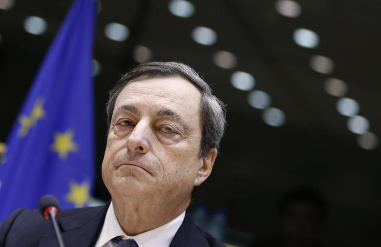 European Central Bank (ECB) President Mario Draghi waits for the start of the European Parliament's Economic and Monetary Affairs Committee in Brussels December 16, 2013. REUTERS/Francois Lenoir