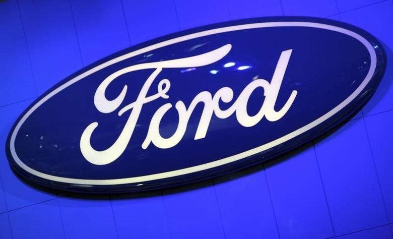 The Ford Motor Company Inc. logo is seen on a wall at the New York International Auto Show in New York City, April 20, 2011. REUTERS/Mike Segar