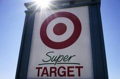A view of the sign outside the Target store in Westminster, Colorado, February 26, 2014. REUTERS/Rick Wilking