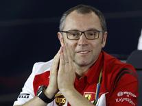 Ferrari Formula One team principal Stefano Domenicali attends a news conference after the second practice session of the Australian F1 Grand Prix in Melbourne March 14, 2014. REUTERS/Brandon Malone
