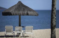 Uma praia particular do Portobello Resort, em Mangaratiba. A operadora de turismo CVC afirmou que os resultados iniciais de 2014 foram o melhor período de vendas em 42 anos da companhia, conforme comunicado à imprensa divulgado nesta segunda-feira. 11/03/2014 REUTERS/Ricardo Moraes
