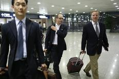 Twitter CEO Dick Costolo arrives at Shanghai's Pudong Airport March 17, 2014. REUTERS/Aly Song