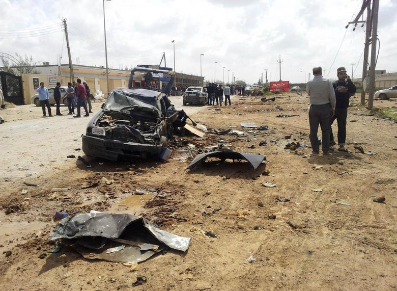 Car bombs kill at least eight at Libya army academy in...