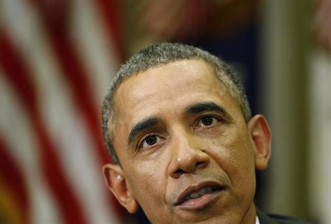 3月17日、オバマ米大統領は、ロシアのクリミア軍事侵攻に関与したとしてロシア、ウクライナ人あわせて11人に制裁を発動した。写真はワシントンで12日撮影(2014年 ロイター/Larry Downing)