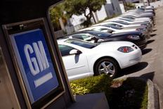 Chevrolet cars are seen at a GM dealership in Miami, Florida in this file photo from August 12, 2010. REUTERS/Carlos Barria/Files